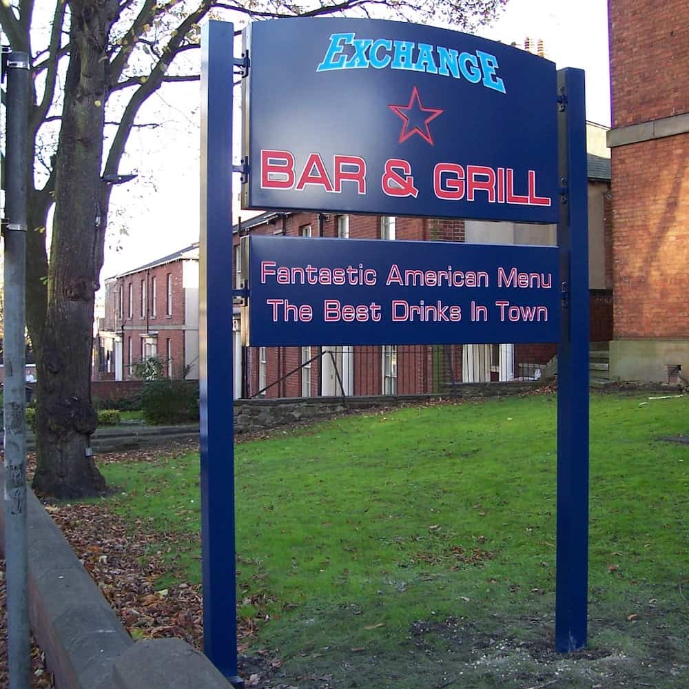 Freestanding Restaurant Sign